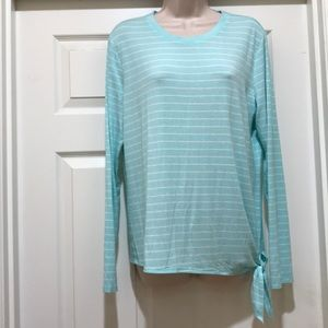 Time and Tru long sleeve striped tee shirt size M